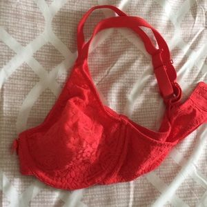 NWOT Red Lace Bra 36C